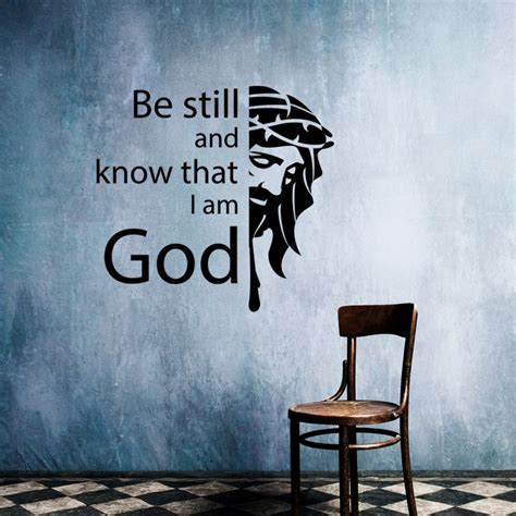 be still and know that i am god tattoo be still and that i am god christian vinyl wall