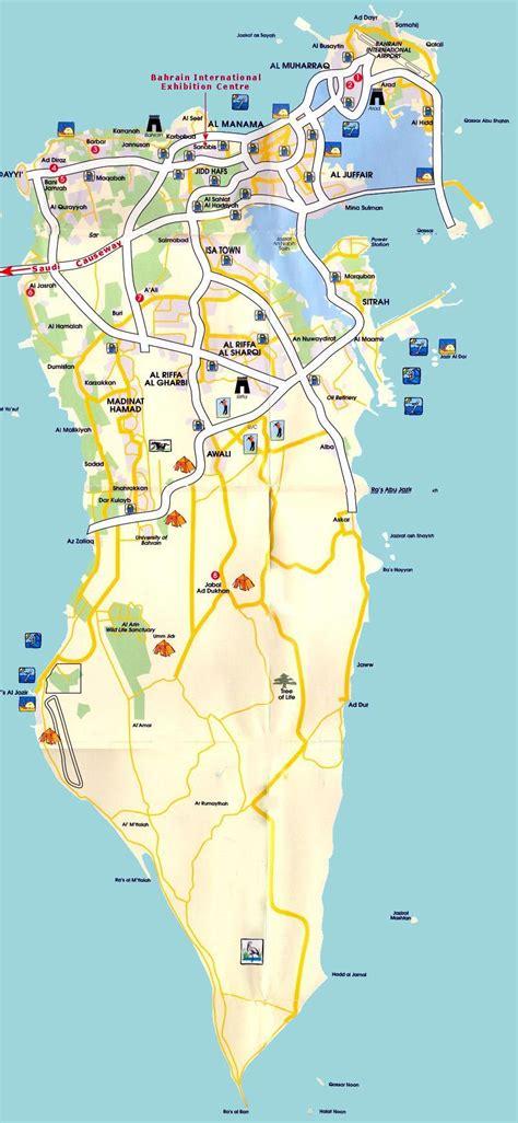bahrain map with cities bahrain maps printable maps of bahrain for
