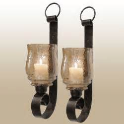 Candle Sconces Dashielle Hurricane Wall Sconce Pair With Candles