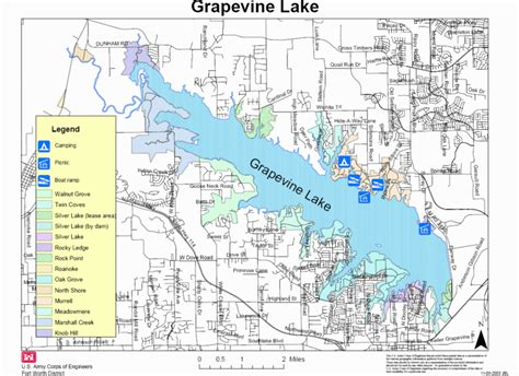 grapevine texas map map lake grapevine