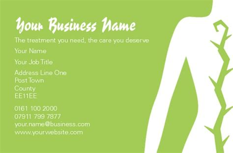 Physio Business Card Template by Print Templates Printing