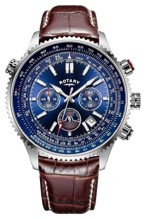 rotary gents chronograph blue gs00699 05