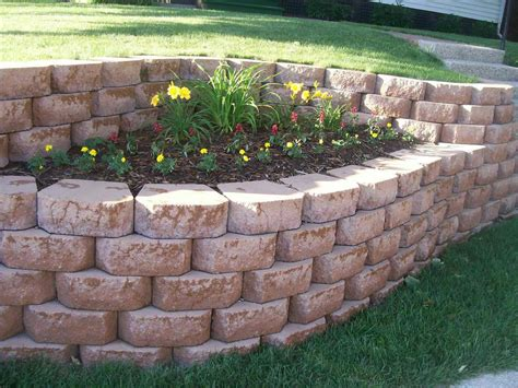 Ideas For Garden Walls Cheap Garden Retaining Wall Ideas Landscaping