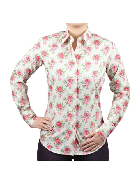 rose pattern shirt women s fitted shirt with roses pattern