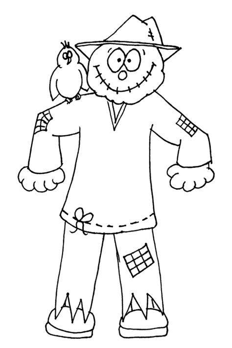 coloring pages scarecrow printable scarecrow coloring pages bestofcoloring com