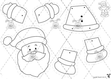 santa claus craft template search results for santa claus cut out templates