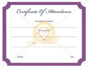 free attendance certificate template certificate of attendance template certificate template