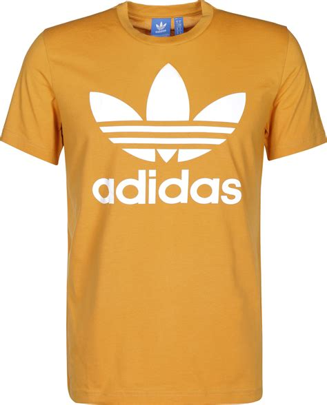 Adidas Tsirt adidas trefoil t shirt gelb