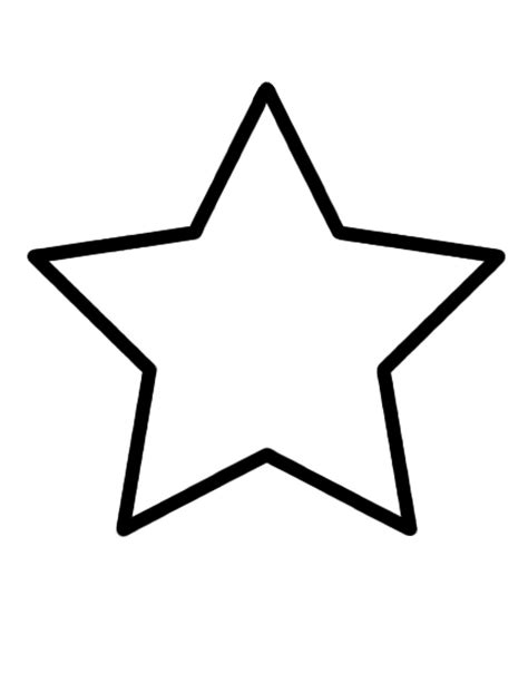free coloring pages of star shape tracing