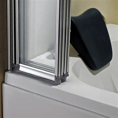 folding tub shower doors 1 2 3 4 5 fold pivot folding bath shower screen 1400 glass door panel seal ebay