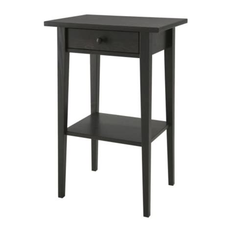 Ikea End Tables by Hemnes Nightstand Black Brown Ikea