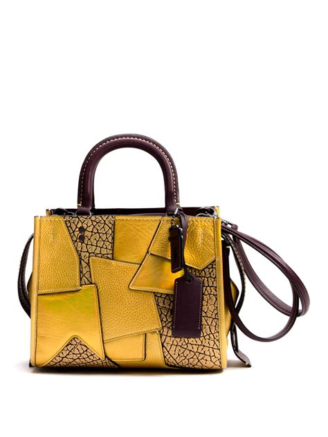 Patchwork Leather - rogue patchwork leather bag by coach cross bags ikrix
