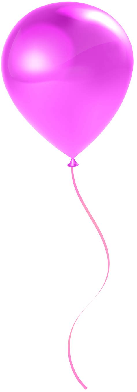 Single png pink balloon transparent clip art gallery yopriceville high quality images and