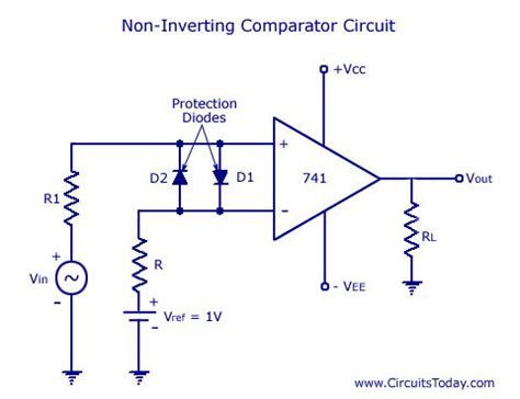 diode comparator circuit 741 non inverting op diagram resistor color code diagram elsavadorla