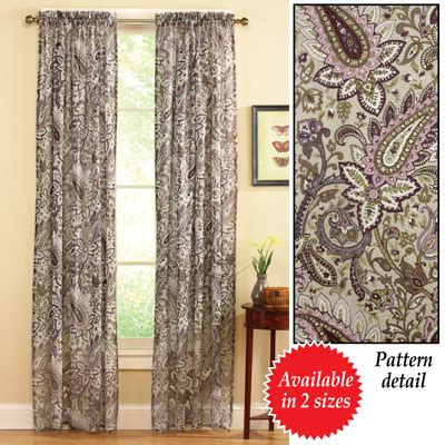 sheer paisley curtains floral paisley sheer curtain from collections etc
