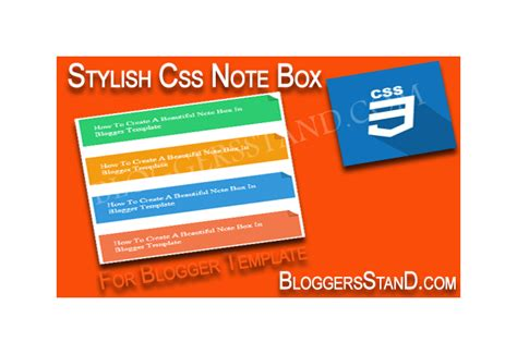 css making notes how to create stylish css note box in blogger template