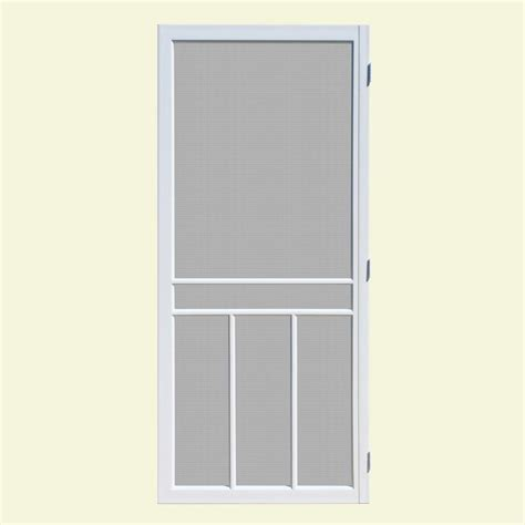 Screen Doors Home Depot Exterior Door Unique Home Designs 32 In X 80 In Newport White Outswing Vinyl Hinged Screen Door