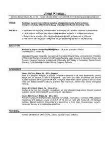 Resume For Internship Exle by 28 Resume Templates For Internship Students