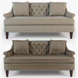 Apartment Sofa Tufted 3ds Hickory Furniture Marler