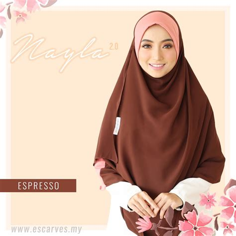 Nayla Shawl 1 3 Gaya shawl labuh nayla 2 0 escraves asmi collections tudung