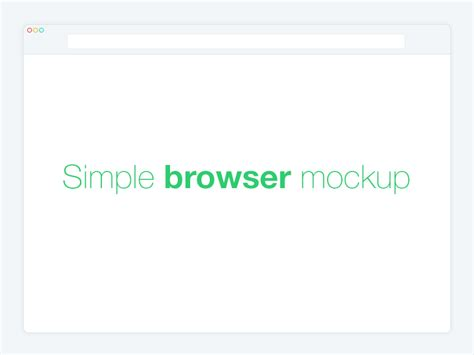 browser template 25 clean web mobile browser mockup templates