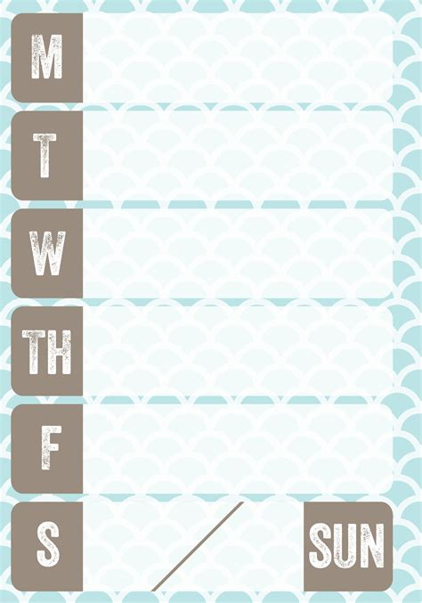 free printable a5 planner inserts 6 best images of free printable weekly planner inserts