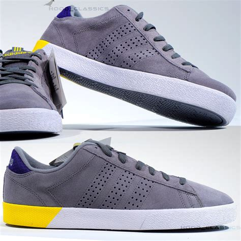 Adidas Neo V Leather Grey Black adidas neo daily ultra suede leather sneakers trainer