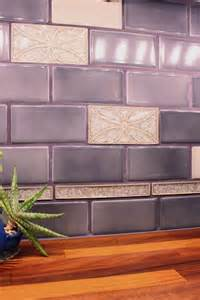 Purple Kitchen Backsplash Violet Tile Backsplash Julie S Kitchen Purple Kitchen Tile Back Splashes What