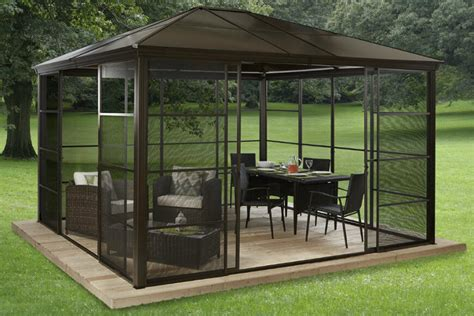 gazebo screen house 27 gazebos with screens for bug free backyard relaxation