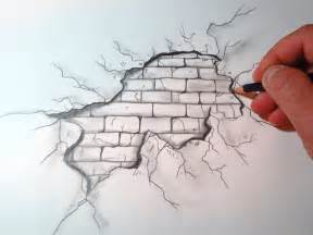 Ferrari Wall Mural how to draw a cracked brick wall the original video