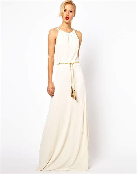 mango trim maxi dress with belt from asos grad dress