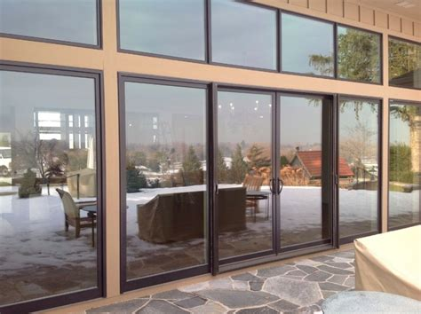 custom patio doors andersen metal clad doors modern
