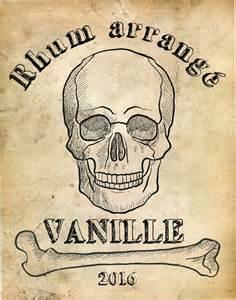 Art Deco Decorating Ideas 233 tiquette rhum arrang 233 vanille skull pirate rum labels