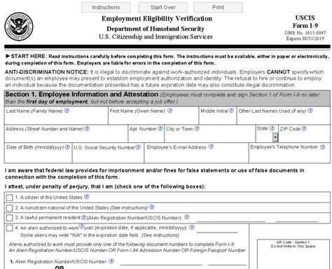 printable form i 9 employment eligibility verification form i 9 in spanish uscis download pdf