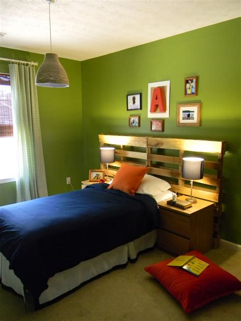 charming green wall finished as inspiring amazing boys bedroom paint ideas added industrial