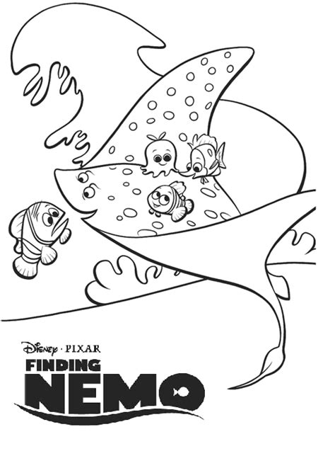 Free Coloring Pages Of Finding Nemo Characters Finding Nemo Characters Coloring Pages