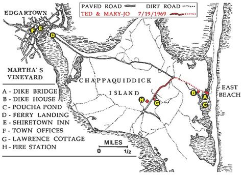 Map Of Chappaquiddick Tedk Exhibits