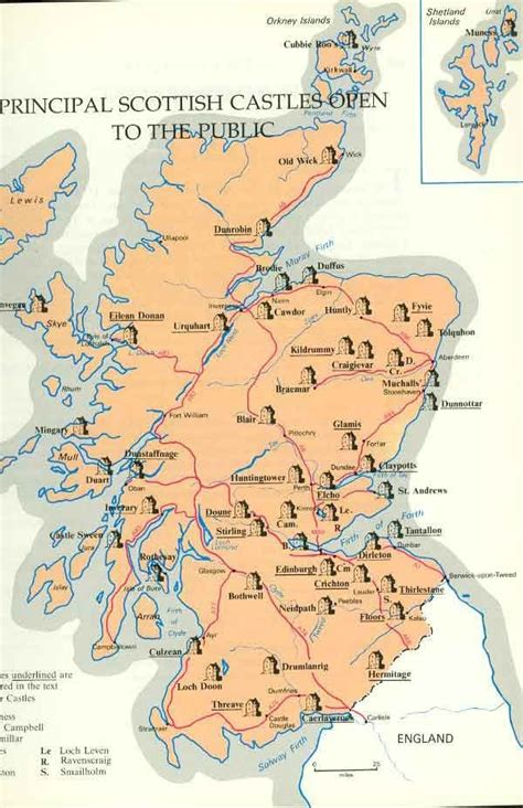 printable map skye map of scottish castles scotland pinterest scottish