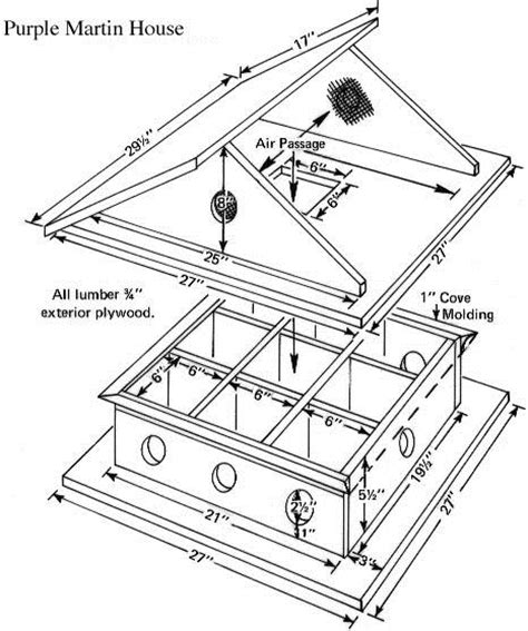 Martin Bird House Plans Woodwork