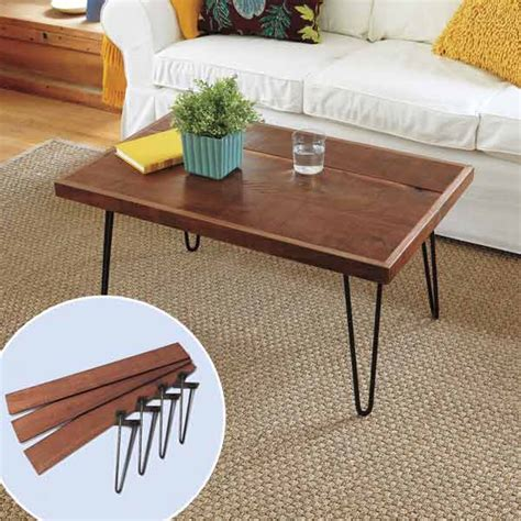 diy wood coffee table legs diy coffee table hairpin legs decoist