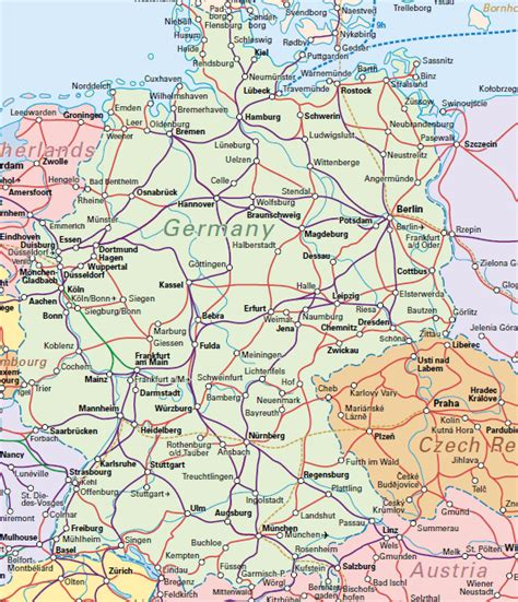 trains germany map see germany by with a tour or rail pass halo