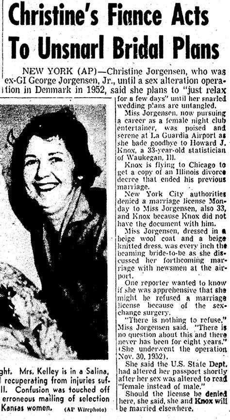 Boston Marriage License Records 1959 Transgender News Transas City