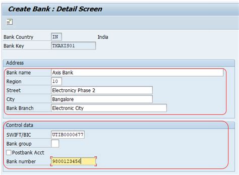 intermediary bank details how to create bank key in sap what is bank key sap