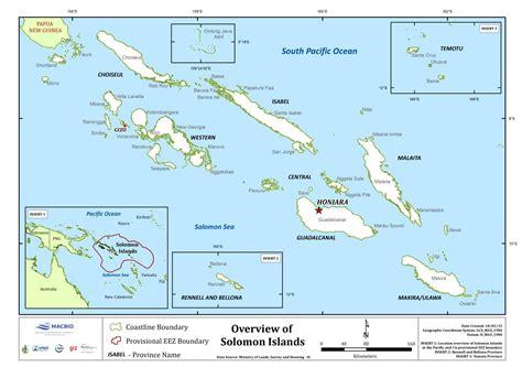 the islands map solomon islands