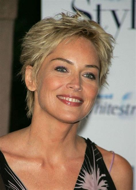 how does a pixie look on a fifty something short pixie cut for women over 50 sharon stone hair