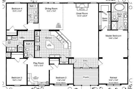 wide floor plans mobile home floor plans wide bestofhouse net 27818