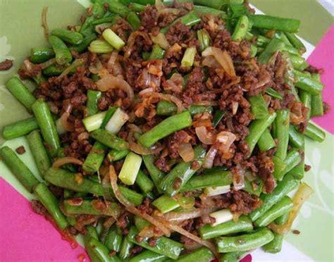 tumis buncis daging cincang resepkokico