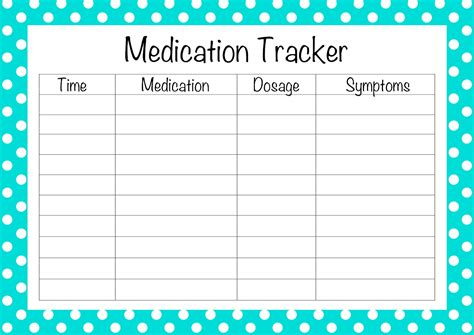 free printable medication list template free printable medication list template search results