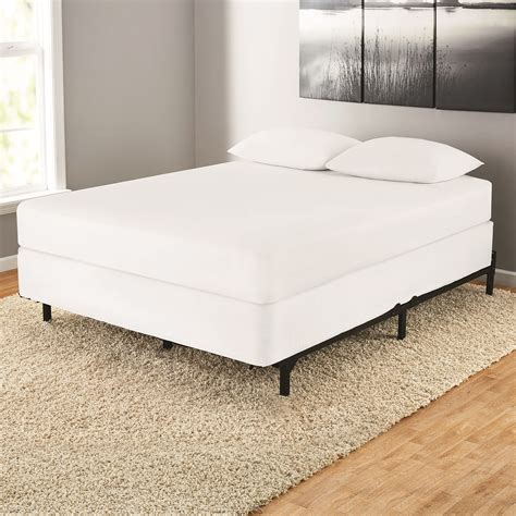7 quot adjustable metal bed frame mattress platform heavy duty size ebay
