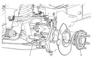silverado front suspension diagram i need to replace the front axle bearing on my 2000 chevy